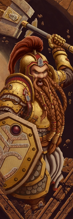 Dwarf Warrior by Lance Red