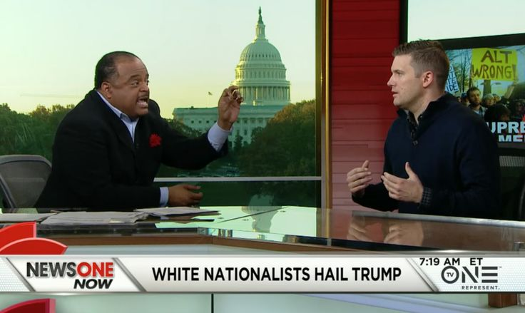 """Roland Martin had """"White Nationalist"""" Richard Spencer on his NewsOne Now program for a little debate and discussion. Spencer's Nazi-friendly revisionist narrative is that America has a white European culture and that white Europeans made this country..."""