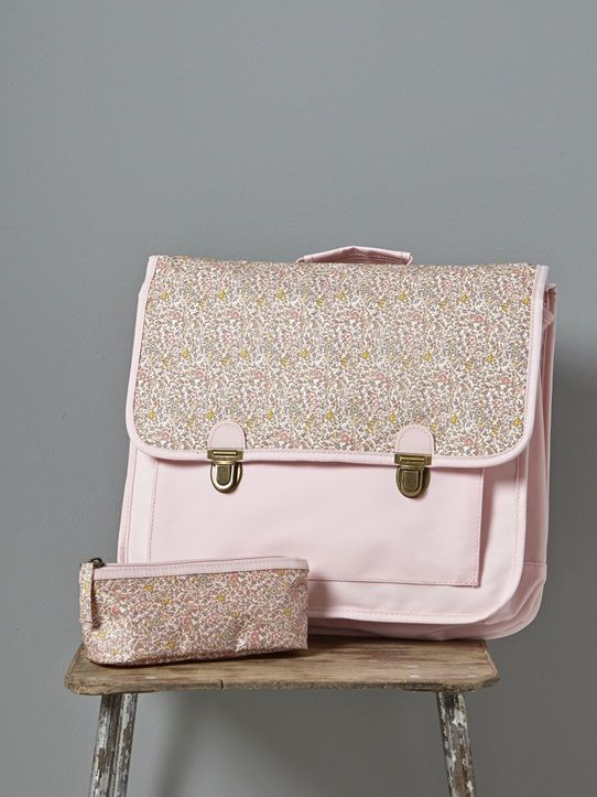 CARTABLE PRIMAIRE Gris/liberty besty+Marine+Rose/liberty katie & millie