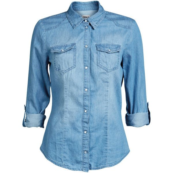ONLY Rock It Fitted Ls Shirt Qyt004 Noos ($41) via Polyvore