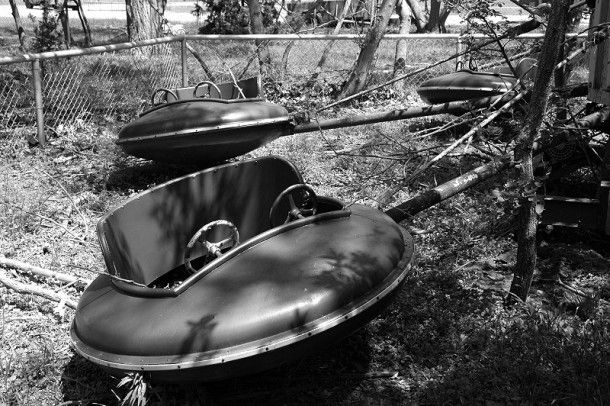 This is Eagle Park, an abandoned amusement Park in Cache, Oklahoma. I read that at one time this park was located in the Wichita Wildlife Refuge. I will check this park out for myself the next time I am in Lawton and take some photos.
