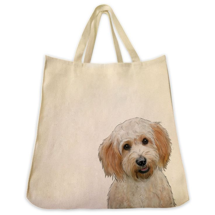 Description: The Cavachon color 10 oz. cotton twill tote bag is the perfect gift for the Cavachon or dog lover in your life. These tote bags are handmade from the highest quality 10 oz. cotton twill a