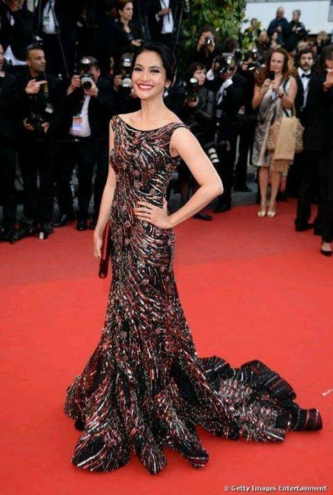 Maudy Koesnaedi in Sebastian Gunawan (at Cannes 2013 - Inside Llewyn Davis premiere)