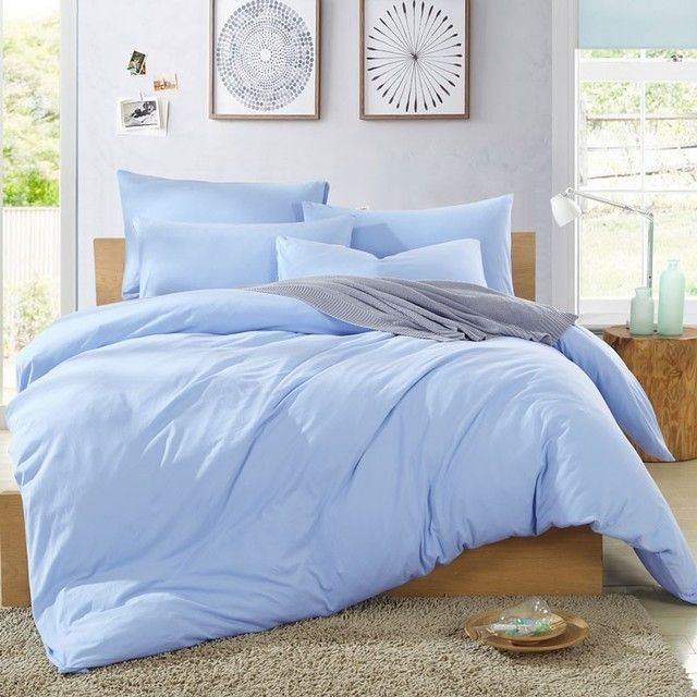 Comfy Light Blue Comforter 400 Gsm Sateen In 2020 Blue Comforter Bedroom Light Blue Comforter Blue Comforter