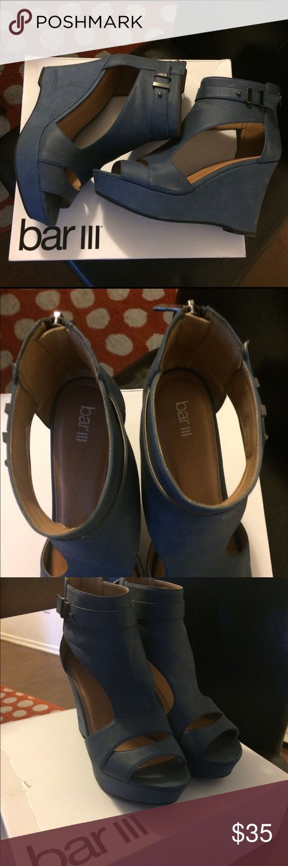 Platform Wedges Bar ||| Platform wedges are new. Size 10. Bar III Shoes Platforms