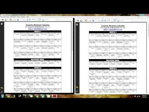 how to get the insanity workout free