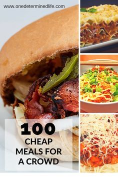 feeding a crowd on a budget, cheap meals for a crowd