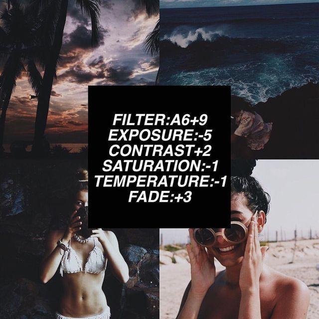 VSCO Cam Filter Settings for Instagram Photos | Filter A6  Dark Effect