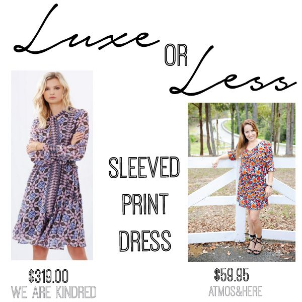 LUXE: Vivienne Belted Dress by We Are Kindred $319 on THE ICONIC // LESS: Dare Lightweight Mini Dress by Atmos & Here $59.95 on THE ICONIC