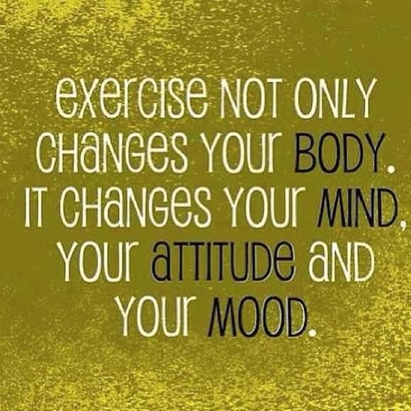 Change your mind, attitude and mood.