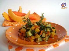 Zucca in padella con carote e zucchine. Le verdure stufate in padella sono il mio contorno preferito per tutte le stagioni, in questo periodo non potevo non usare la zucca.