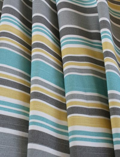 Like this color combo. Master bath? Gray and white striped shower curtain with pops of the other colors?