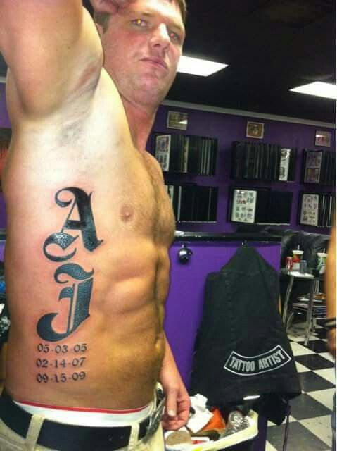AJ Styles new rib tattoo!