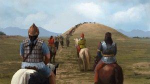 The Scythians were an ancient Iranic people of horse-riding nomadic pastoralists who, throughout classical antiquity, dominated the Pontic-Caspian steppe, known at the time as Scythia.   Scythian Funeral Procession (The Creative Assembly)