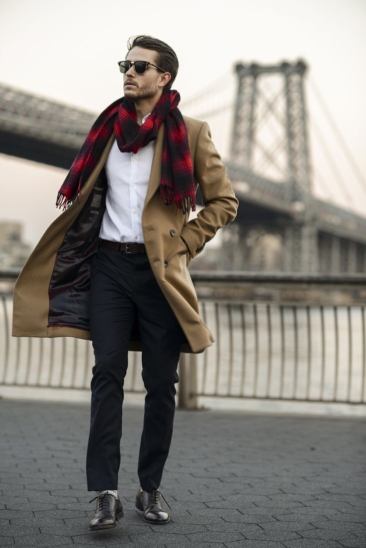 Trench coat+ plaid scarf great accessories to update your everyday look