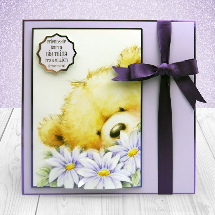 created from Hunkydory Crafts' Little Book of Teddy Bears
