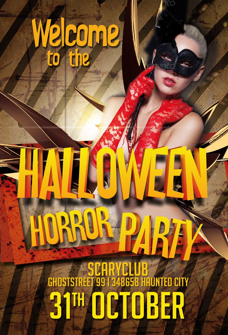 Free Halloween Party PSD Flyer Template - http://freepsdflyer.com ...