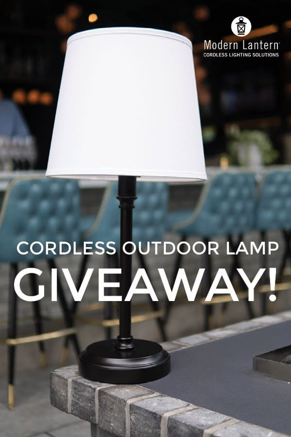 Modern Lantern July Sweepstakes In 2020 Modern Lanterns Outdoor Table Lamps Rechargeable Lamp