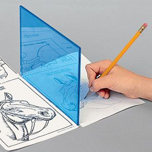 "Reflect-A-Sketch - Unique drawing tool is a fun way to develop children's artistic talent! It reflects any printed picture (from a magazine, book, etc.) onto a blank sheet, allowing child to trace the outline. Develops eye/hand coordination and is more challenging than simple coloring! In addition to reflector, kit includes 6 drawings and 6 blank sheets. (8"" x 6"") (Product Number HC2153) $7.98 CAD"