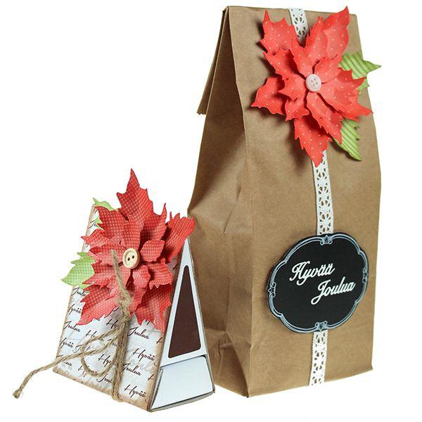 Leikkaa Big Shot -kuvioleikkurin ja stanssin avulla upeita joulutähtiä. Voit koristella niillä kortteja, tulitikkuaskeja, lahjarasioita ja -pusseja!