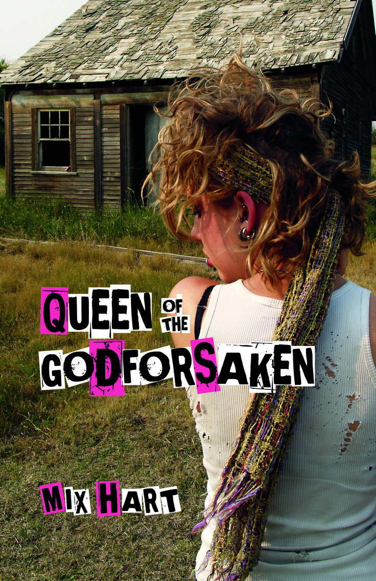When Lydia's family moves from urban Vancouver to an isolated farmhouse in Saskatchewan, she is appalled: at her parents, the locals, and especially the godforsaken land that forces her to leave childhood behind. www.thistledownpress.com/html/search/genre/Young_Adult_Fiction/queen_of_the_godforsaken_p604.cfm