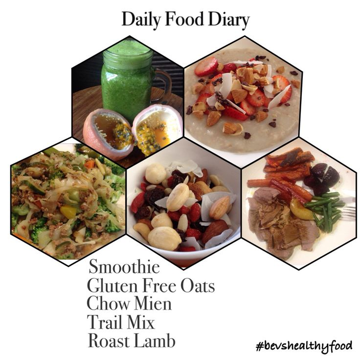 A Day in My Food Diary 1⃣Green Smoothie  2⃣Gluten Free Oats  3⃣Leftover Chow Mien  4⃣Trail Mix  5⃣Roast Lamb & vegetables   〰〰〰〰〰〰〰〰〰〰〰  I eat similar to this everyday and it has helped me lose 20kilos/44lbs in less than a year.  Like so many others I also have been on the diet merry go rounds throughout my life to be fit and energetic, it turns out I can eat all day  〰〰〰〰〰〰〰〰〰〰〰  ➡️Get my FREE 1-Day Meal Plan for a full day of my healthy recipes to print out…