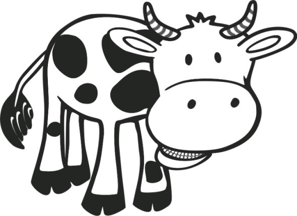 Cow Coloring Book Picture