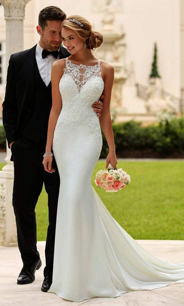 32bb4a746d Corset Bodice Mermaid Lace Wedding Dress Galina Signature Lace Wedding  Dresses For Beach Wedding