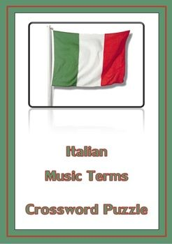Music Italian Terms Crossword! A fun way for students to learn Italian music terms and  sc 1 st  Pinterest & 44 best Music Resources images on Pinterest | Music classroom ... 25forcollege.com