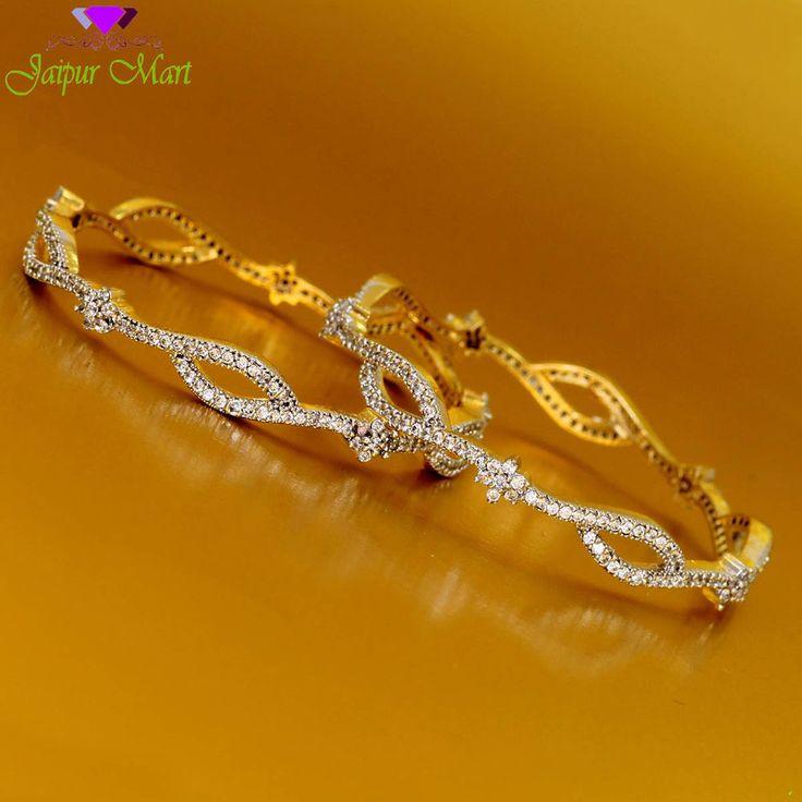 Indian Bollywood American Diamond Bangle Bracelet Free Shipping Size 2*4 ADB99