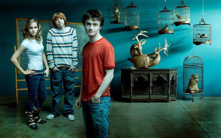 Emma Watson With Harry Potter Movie Crew HD Wide HD Desktop Wallpaper