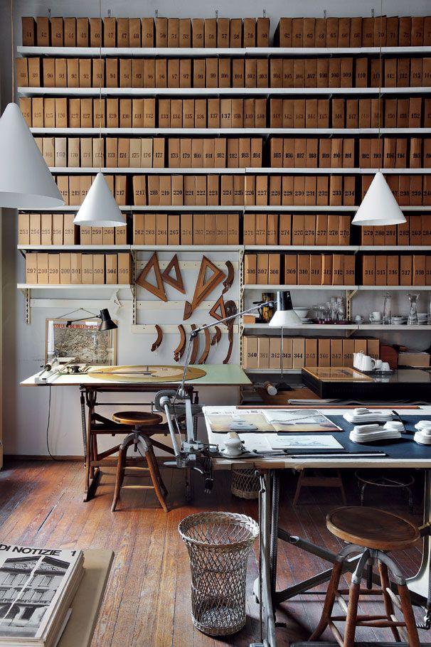 Milan studio of the late industrial designer Achille Castiglioni. I die.