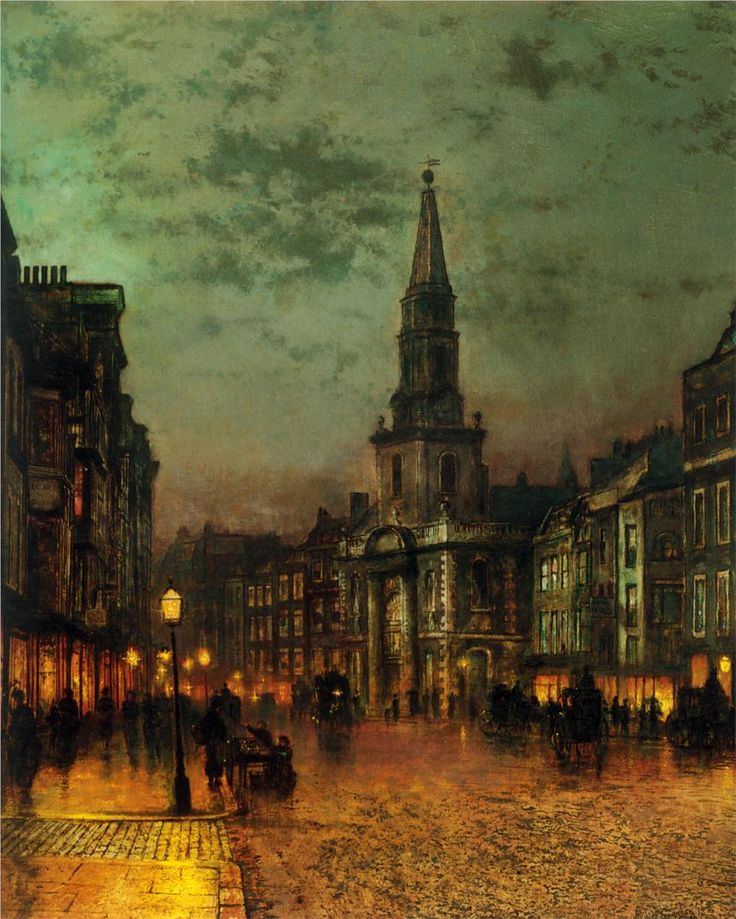 John Atkinson Grimshaw  Blackman Street, London, 1885