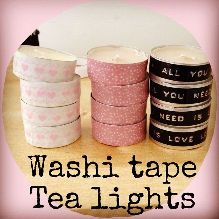 Washi tape tea lights (I made these for hen party favours!)