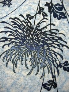 stylized chrysanthemum, Japanese textile