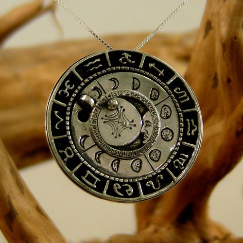What a treasure! The Lunar Phases Talisman - A Rare and Genuine Moon Talisman that is also a Lunar Calendar!