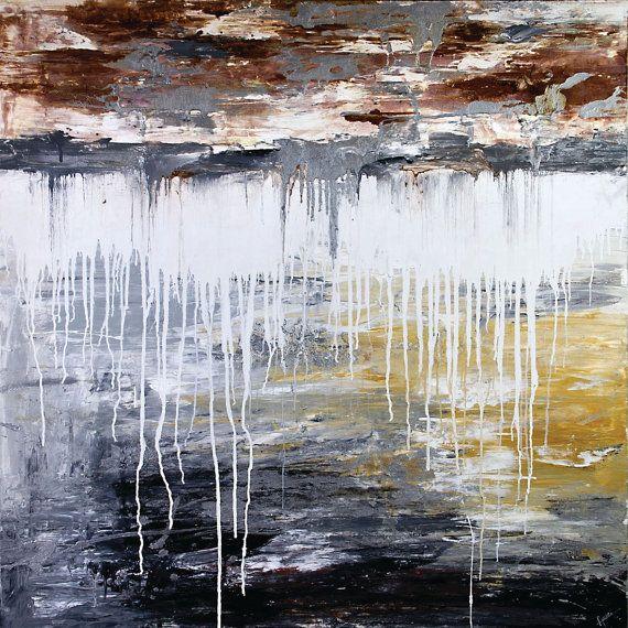 Noorvik  60 x 60 Inches Acrylic Abstract by acasaARTstudio on Etsy