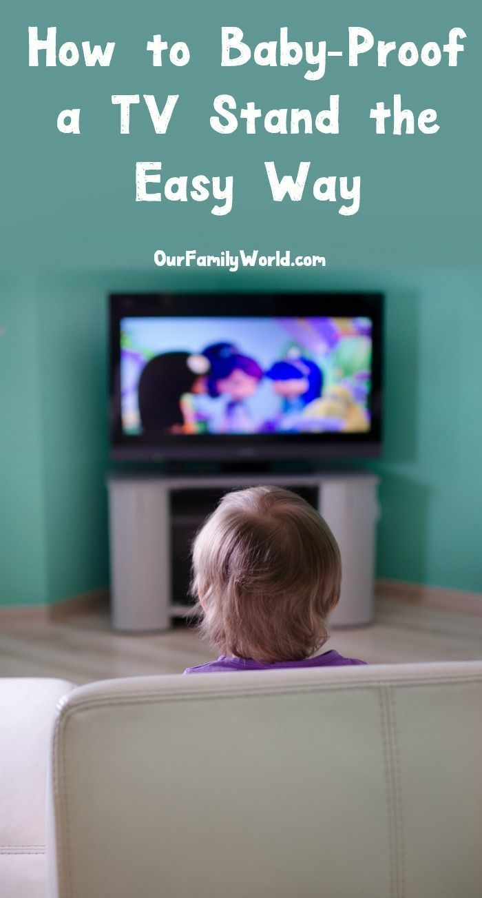 How To Baby Proof A Tv Stand Keep Baby Safe From Lurking Dangers Baby Hacks Pumping Moms Baby Proofing