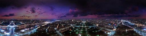 The view from the top of the Eiffel Tower.  Paris, France