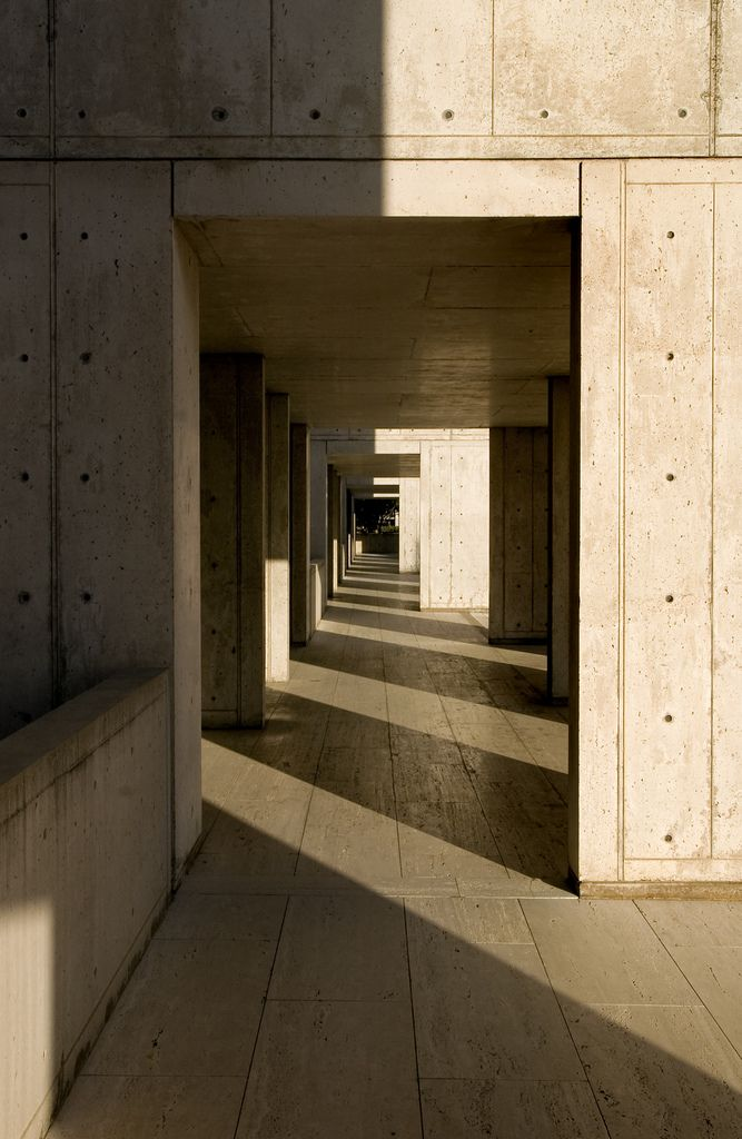 Salk Institute in La Jolla by Louis Kahn #shadow #material