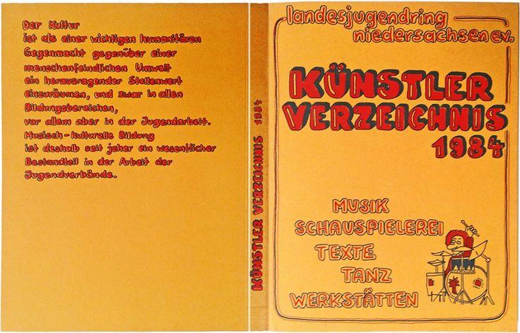 das 224-seitige künstlerverzeichnis des landesjugendringes niedersachsen von 1984 feiert seinen 30. geburtstag.
