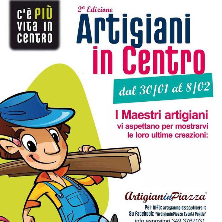 #ArtigianinCentro, la 2^ edizione c/o il Centro Commerciale Mongolfiera di #Foggia (Fg) da venerdì 30 gennaio a domenica 8 febbraio 2015.
