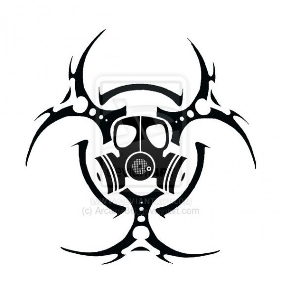 radiation symbol Tattoos | Biohazard Symbol Tattoos Page 2