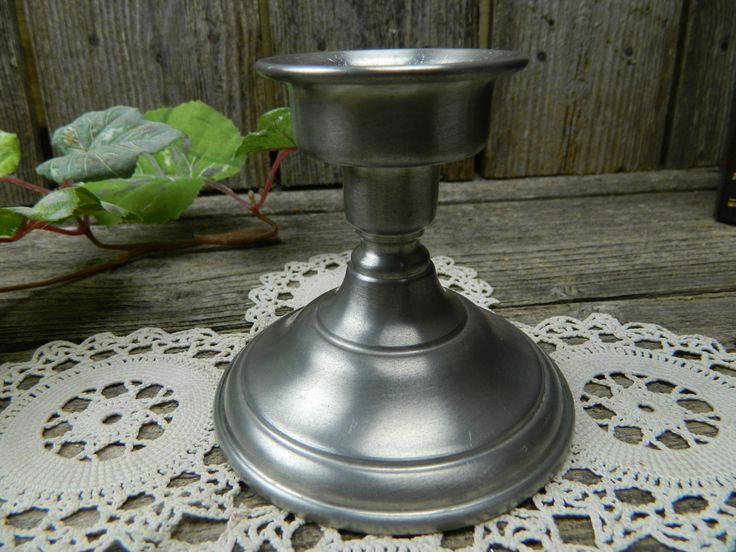 Vintage Kirk Pewter Candlestick Chamberstick - Early America Colonial by allthatsvintage56 on Etsy