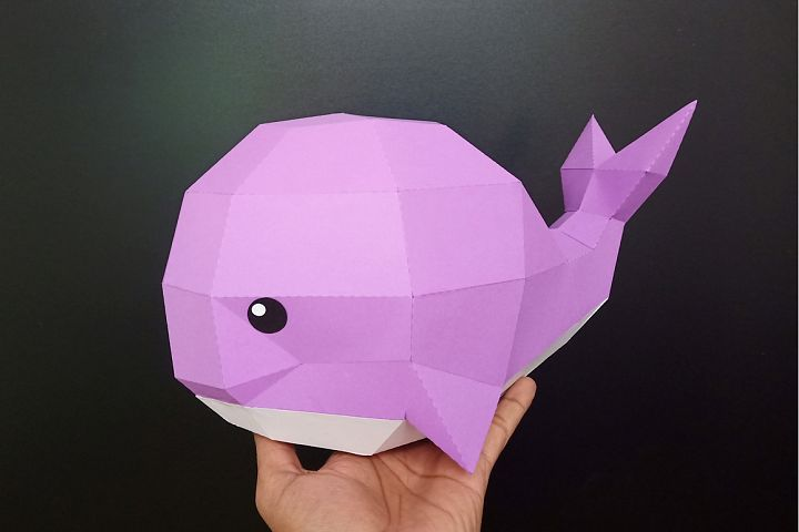 Diy Whale Sculpture 3d Papercraft Paper Crafts 3d Paper