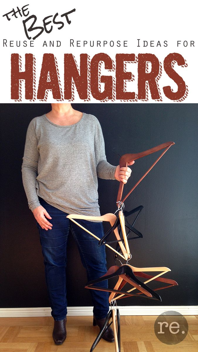 Favorite reused and repurposed hanger projects!