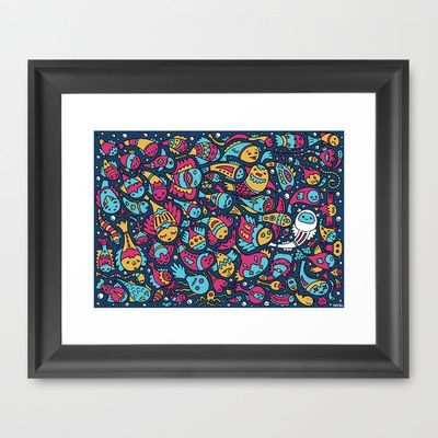 Fish Soup Framed Art Print by Mister Phil - $37.00