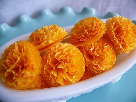 Artsy Craftsy Mom: Day 4 - DIY Paper Marigold Flowers for Dussehra & Diwali