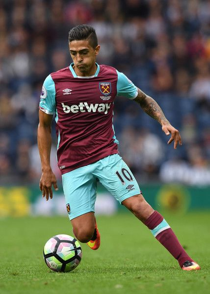 Manuel Lanzini of West Ham United in action during the Premier League match…