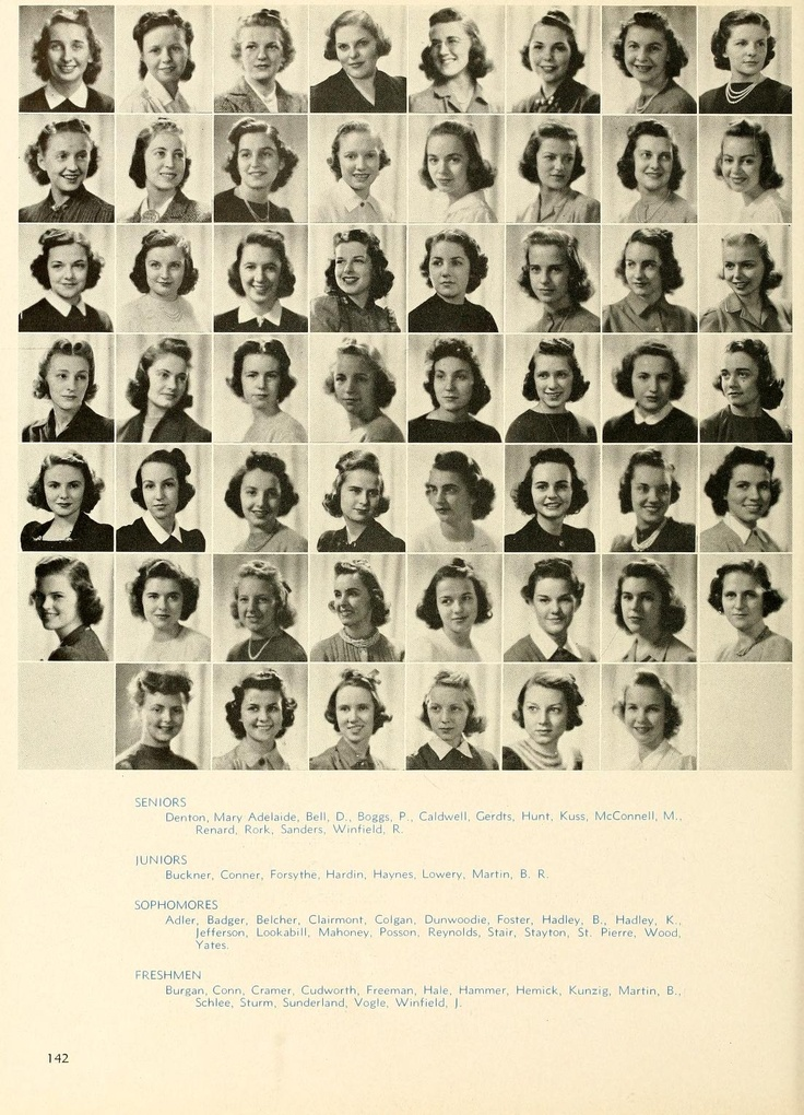 Granny was a member of Kappa Kappa Gamma. Here is her composite picture from Freshman year.